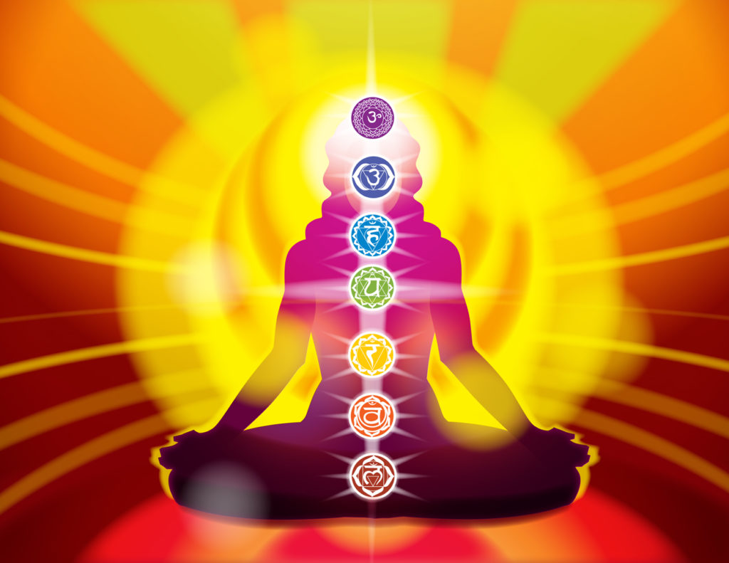 Woman in Lotus Chakras
