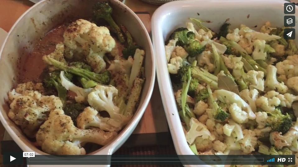 Baked Broccoli and Cauliflower
